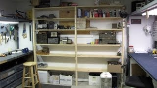 Building Workshop Shelves