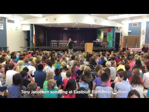 Tony Jacobsen Speaking at Eastbluff Elementary School