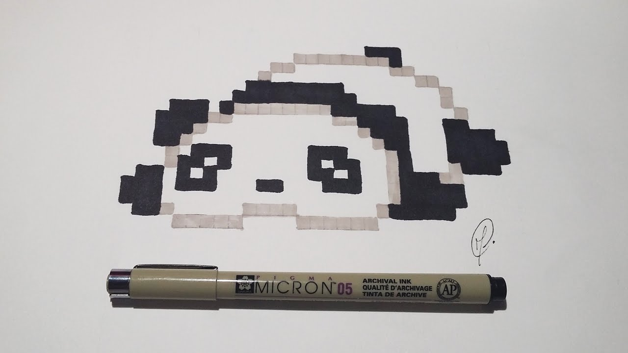 Pixel Art Kawaii Baby Panda Very Easy