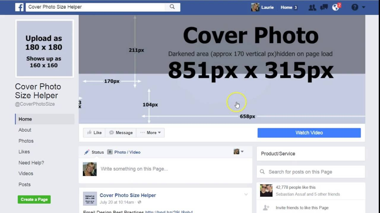 New Facebook Cover Photo Dimensions - YouTube