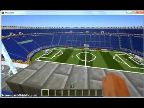 Estadio azul (cruz azul)  minecraft