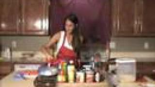 She Cooks Crawfish Etouffee.