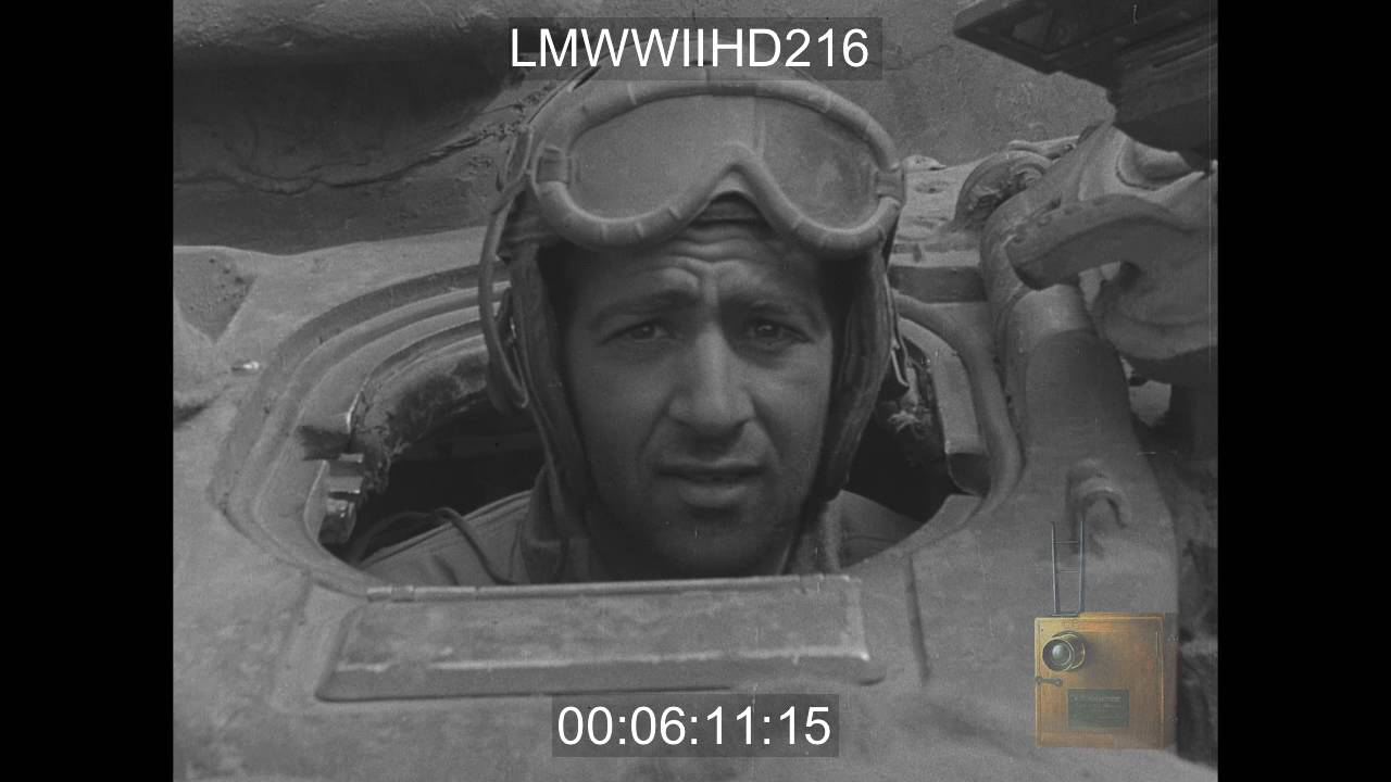 LANDING OF FRENCH 2ND ARMORED DIVISION, UTAH BEACH, NORMANDY, DESTRUCTION  OF GERMAN EQ - LMWWIIHD216