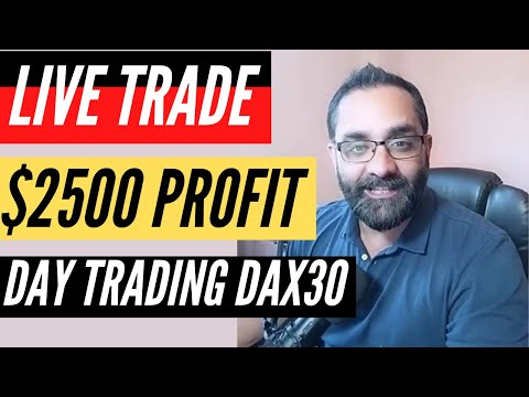 how to trade the german dax 30| Live Trade Recording with Comments