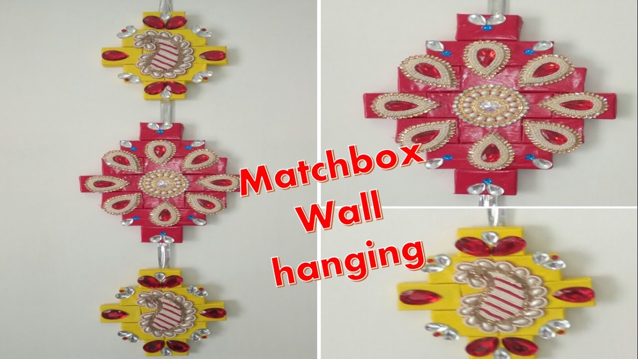 How to make beautiful wall hanging from old empty for Blank matchboxes for crafts