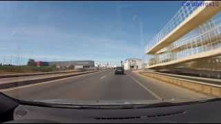 The Drive from Faro Airport to Albufeira Old Town (HD) GoPro Hero2