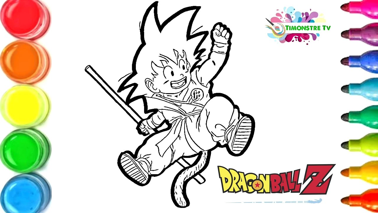 Dessin Et Coloriage Sangoku Enfant Dragon Ball Z How To Draw For Kids Tt106 Youtube