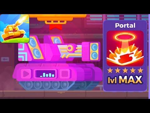 Tank Stars - Gameplay Walkthrough Part 68 - Tank Dubstep & Portal Weapon Max Lvl (iOS,Android)