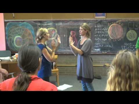 Prairie Moon Waldorf School Circle Inservice - Left Right Activity 2nd Grade