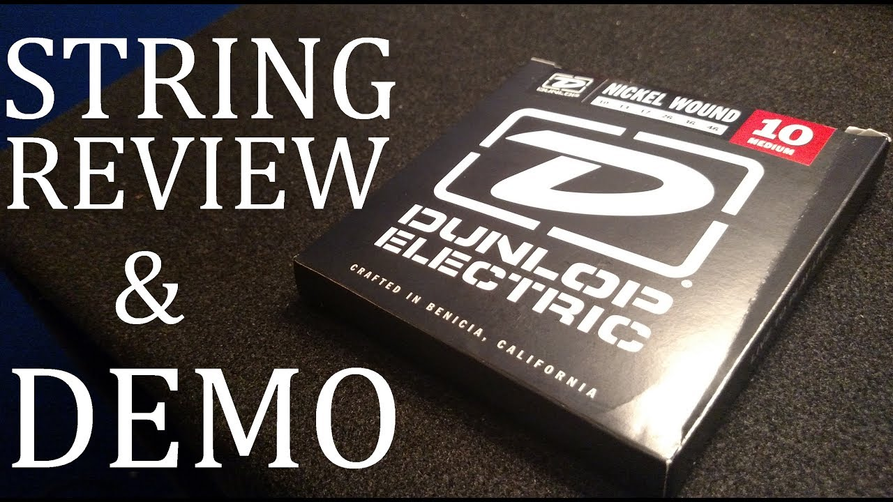 dunlop electric guitar strings 10 46 review demo youtube. Black Bedroom Furniture Sets. Home Design Ideas