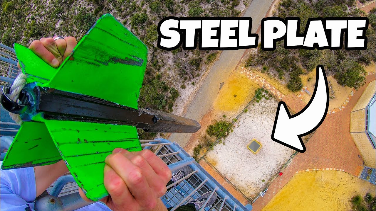 GIANT DART Vs. STEEL PLATE from 45m!