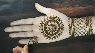 simple mehndi designs for front hands easy