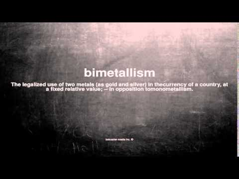 What does bimetallism mean