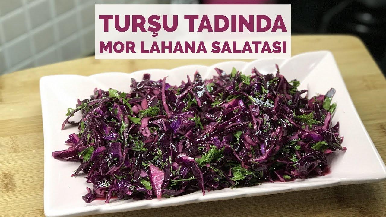 Tursu Tadında Mor Lahana Salatası Nasıl Yapılır Videosu