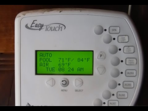 EasyTouch® Pool and Spa Control Programming Schedule, Cleaner, Pump RPM, Salt