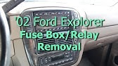 Fuse Box Location And Diagrams Ford Explorer 2002 2005 Youtube