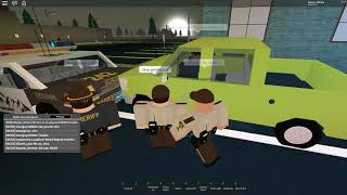 Roblox Mano County Patrol | MY FACE IS IN A PIT OF FIRE AND BECKA IS ON THE ROOF!