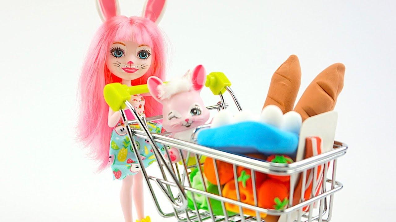 Лепим игрушечные продукты из магазина  Развивающее видео