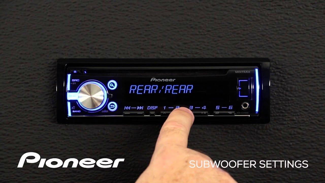 medium resolution of pioneer deh x3700ui wiring diagram how to deh x3700ui subwoofer settings