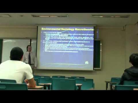 Environmental Sociology 4 (1/6): Macrotheories: The Origins of the Human-Environmental World, II