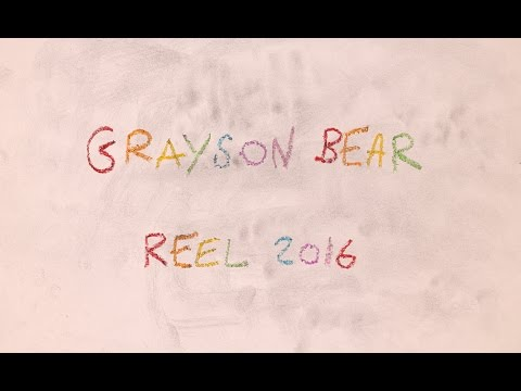 Grayson Bear Animation Reel 2016