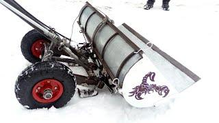 """Универсальная лопата для уборки снега:- """"скрепер- тележка-отвал-самосвал"""" обзор конструкции"""