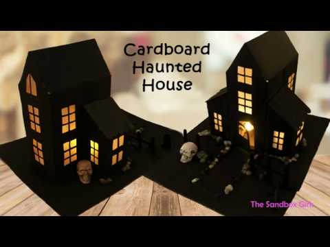 Cardboard Haunted House - Halloween paper craft - DIY Halloween Decor