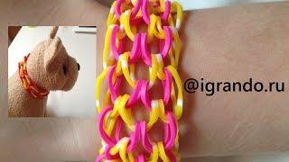Как плести браслет Чешуя Дракона из резинок видео | How To Make Rainbow Loom Dragon Scale bracelet