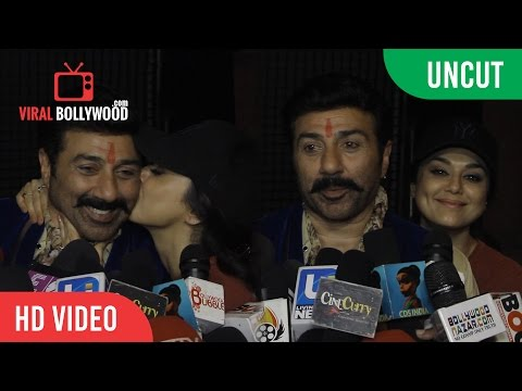 UNCUT -  Sunny Deol, Amisha Patel And Preity Zinta New Movie Bhaiyyaji Superhitt | ONLOCATION