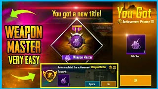 WEAPON MASTER : EASY TRICK TO GET WEAPON MASTER TITLE IN PUBG MOBILE