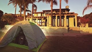 OVERNIGHT CAMPING AT A $10 MILLION MANSION!