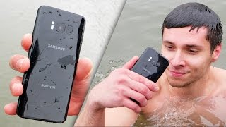 Samsung Galaxy S8 vs iPhone 7 Water Test! Secretly Waterproof? thumbnail