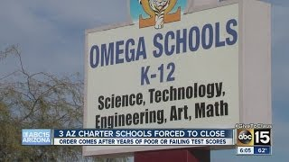 Three charter schools forced to close