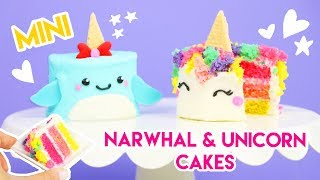 How to Make Miniature Unicorn and Narwhal Cakes!