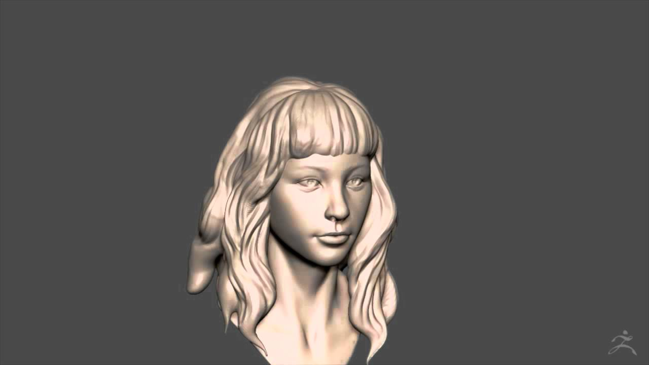 Zbrush Sculpting Girl With Wavy Hair 02 Hair Youtube