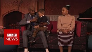 SPOTY winner Sir Mo Farah upstaged by son - BBC News