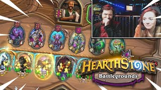 UNDEFEATED SO FAR!! | Hearthstone BATTLEGROUNDS (w/ Mike Donais)