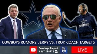 Dallas Cowboys Coaching Rumors, Jerry Jones vs. Troy Aikman Drama & 2020 Cowboys NFL Mock Draft