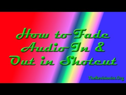 How to Fade In & Out your Audio in Shotcut