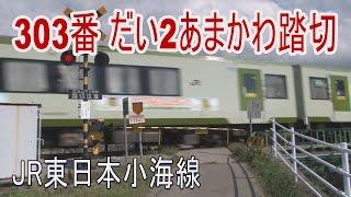 【踏切動画】小海線だい2あまかわ踏切 Railway crossing in JAPAN