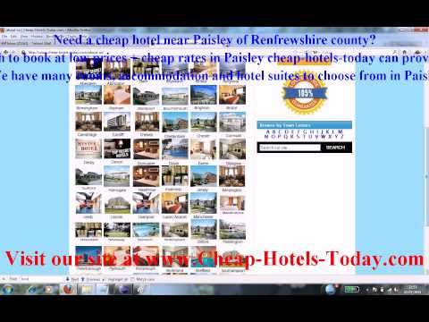 Late Rooms Paisley and Last Minute Hotels Paisley