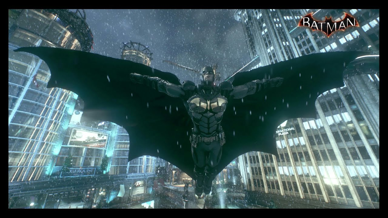 Batman Arkham Knight Golden Bat Symbol NewSuit Knockout Compilation