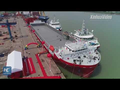 China's 1st home-made bulk deck cargo ship