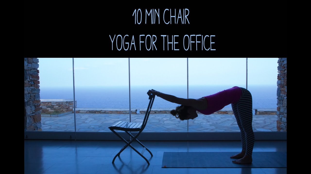 10 min chair yoga for the office - youtube