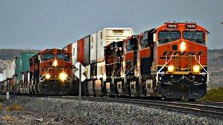 HD: BNSF TRAIN RACE + MEETS + MORE!