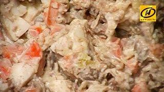 Быстрый салат из куриной печени, диета, рецепт