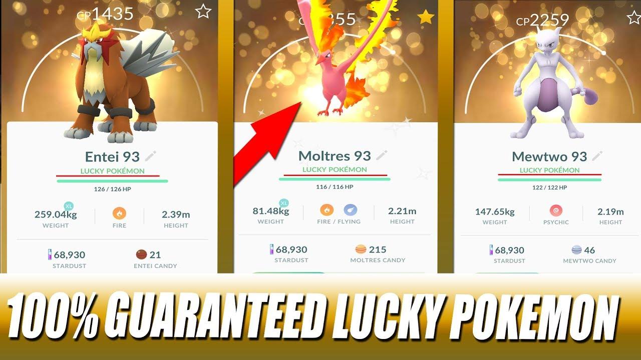 Pokemon Go 100 Guaranteed Lucky Shiny Legendary