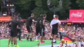 Duitsland huldigt de wereldkampioen   WK Voetbal 2014