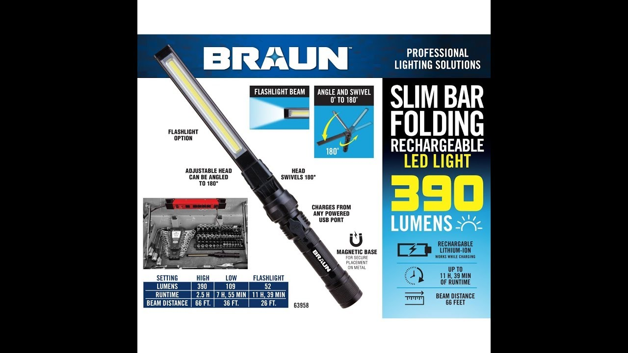 Harbor Freight Good Buy Braun Led Rechargeable Light