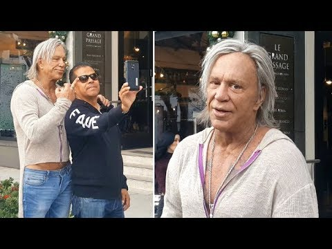Mickey Rourke Sets The Record Straight On Sylvester Stallone In Beverly Hills
